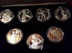 Michael Jordan Legend Upper Deck 7 Coin Set 999 Silver Coins Super Rare Sharp