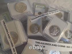 Morgan Dollars-certified Diamonds And Emeralds-estate Coins-gems-sale-rare Lot