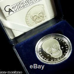 PALAU 2010 Memento Mori SILVER SKULL COIN Extremely Hard to Find VERY RARE