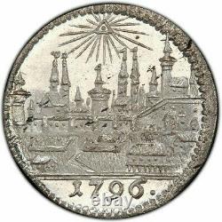 PCGS Nurnberg MS 65 1 Kreuzer 1796 Silver Coin City View Rare Type Nuremberg