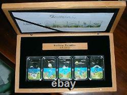 Palau 2012 Endless Paradise Set of 5 Colour Silver Coins, Proof, Rare