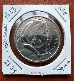 Poland Very Rare 10 Zl Zlotych 1933 Jan III Sobieski Silver Coin
