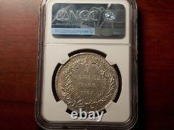 RARE 1894 German New GUINEA 5 Mark silver coin NGC AU