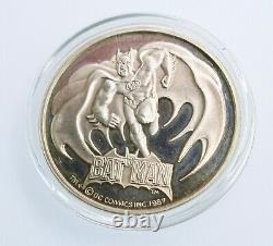 RARE 1987 Vintage Batman coin. 999 silver bullion 1 oz-Investment coin