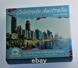 RARE 2010 1 oz. 999 silver Australian SEA TURTLE proof Celebration COA & OGP