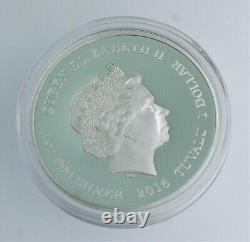 RARE 2016 1 oz. 999 silver STAR TREK KIRK & SPOCK silver PROOF coin with COA & OGP