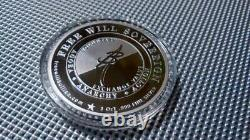 RARE 2017 Sovereign Free Will Bullion Silver PROOF Round Coin Anarchy #387/500