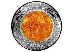 RARE 2019 $5 The Earth and Beyond Sun Coloured 1oz Silver Proof Coin