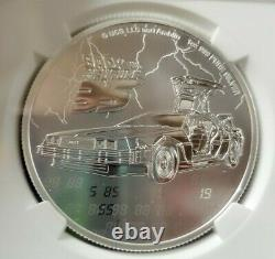 RARE 2020 Niue BACK TO THE FUTURE 35th Anniversary 1oz silver coin NGC MS70