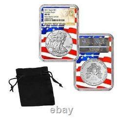 RARE 2021 American Silver Eagle NGC MS 70 New Year's Day Edition Flag Core