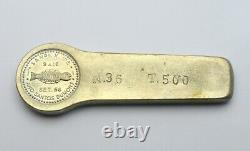 RARE Brazil SANPEX III counterstamp (1956) 960 Reis 1816 Coin + Ingot SILVER
