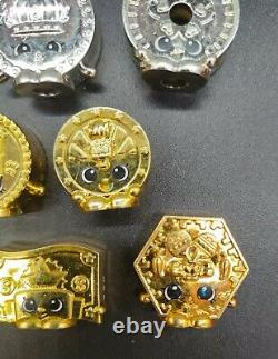 RARE Lot 8 Shopkins Limited Edition Money GOLD SILVER COIN Figures Complete Set