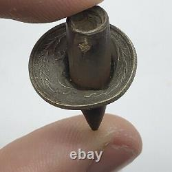 RARE WWII Era Bullet Collided & Stuck In A Silver Coin Eastern Front Rarity