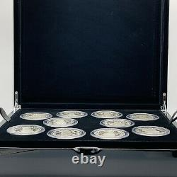 Rare 2021 Royal Mint The Queens Beasts 2oz Two-Ounce Silver Proof Ten-Coin Set