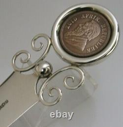 Rare Boer War English Solid Sterling Silver Letter Opener S Africa Coin 1898