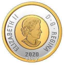 Rare Canada Coloured Toonie 2 Dollars Coin Polar Bear 99.9% silver UNC 2020