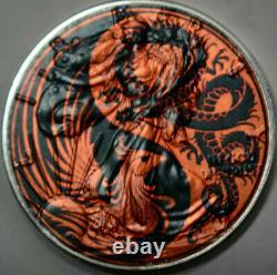 Rare Dragon Phoenix American Silver Eagle 1oz. 999 Limited Silver Dollar Coin