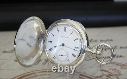 Rare E. Howard & Co Taschenuhr massiv Silber pocket watch COIN SILVER C1857