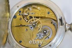 Rare E. Howard Series III Pocket Watch 18 Size (N) Coin Silver 1868 post war