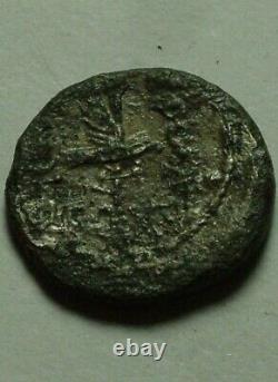 Rare Genuine ancient Roman coin Mark Antony denarius Galley standard eagle