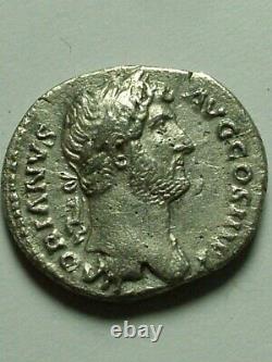 Rare Genuine ancient Roman silver coin denarius Hadrian Mars trophy