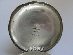 Rare R. E. Robbins 18s Waltham 1877 Model Key Wind Pocket Watch 3 Oz Coin Silver