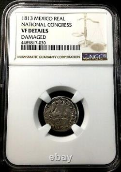 Raresilver Coin 1 Real Of Tlalpujahua (mexico) National Congress