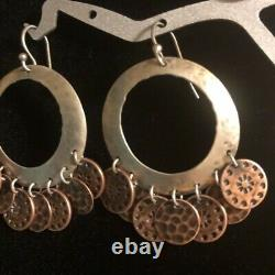 Silpada W1559 Sterling Silver and Copper Coin Coral Earrings VERY RARE