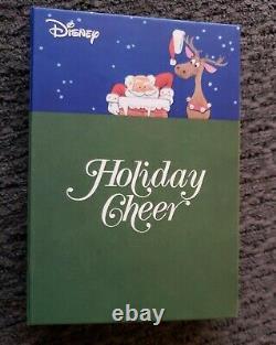 Very Rare $2 Niue Disney Holiday Cheer 1 Oz Coloured Silver Coin Bar