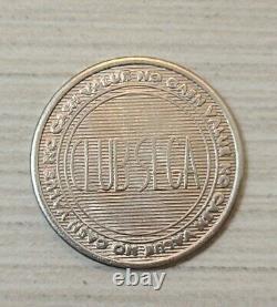 Vintage Sonic The Hedgehog Arcade Token Coin medal CLUB SEGA Rare Promo Silver